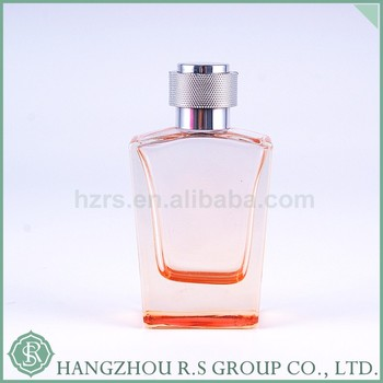 OEM&ODM100ml custom glass perfume transparent bottle with metal cap