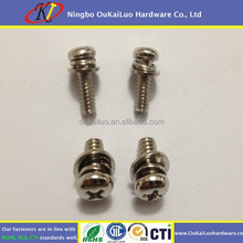 Phillips Pan Head Combination (SEM) Machine Screws With Washer Attached