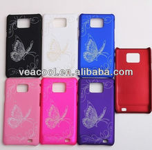 Butterfly Rubber Hard Case For Samsung Galaxy S2 SII i9100