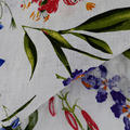 linen fabric printed for lady's dress