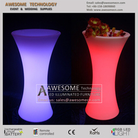 Led glow High top ice table for bar night club