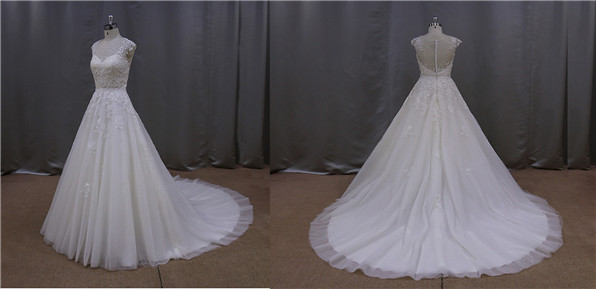 Graceful flare butterfly gents wedding dresses