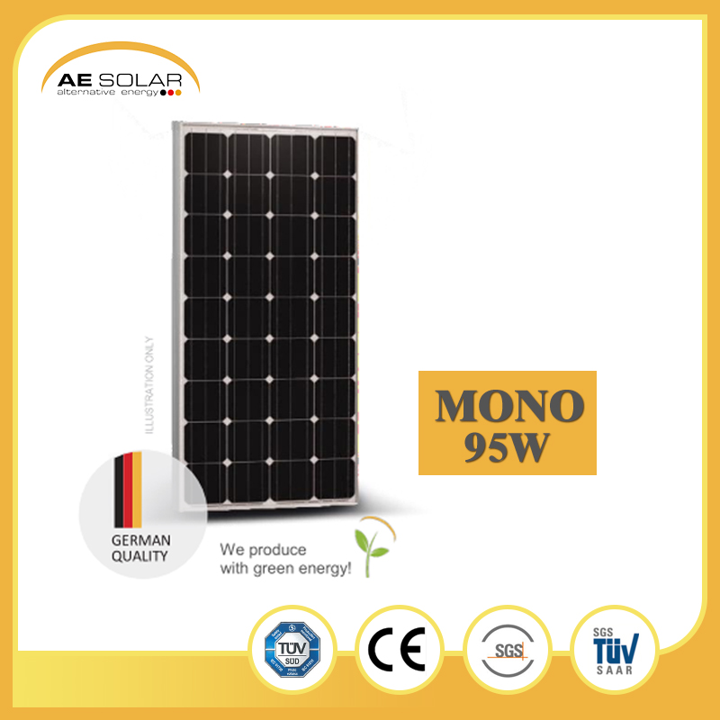 Factory Low Price AE M5-36 Series 95W Monocrystaline Solar Panel Solar Module With CE TUV ISO Certificated