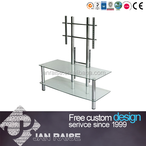Two shelves right-angle tv stand glass tv stand ok-4068