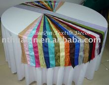 crushed taffeta chair sash for banquet wedding chair ties