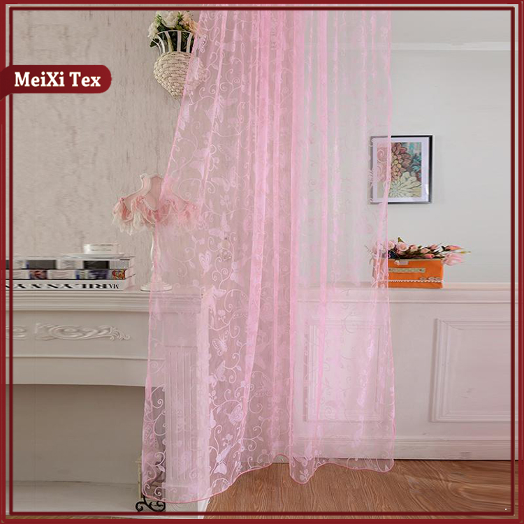Nice Flocking Voile Curtain-new design curtains flocking organdy curtain