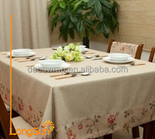 Top Selling Factory 100% Pure Natural Hotel Home Linen Table Cloth
