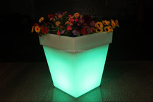 rechargeable led flower tray/ led light ice bucket