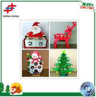 2017 New arrival Wooden Handcrafted Folk Art Gifts for Christmas Handcraft Decoration