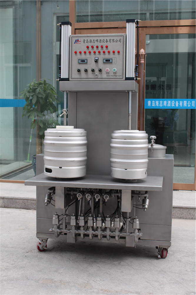 50l two heads beer canning washing machine equipment
