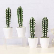 High performance simple design mini table artificial cactus pot plants