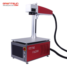 Wuhan Grentsun Mini 20W fiber electronic laser marking machine for printed circuit board, chip,mobile phone shell