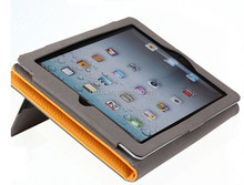 Factory wholesale price folio cover for iPad Air hand strap wallet leather case