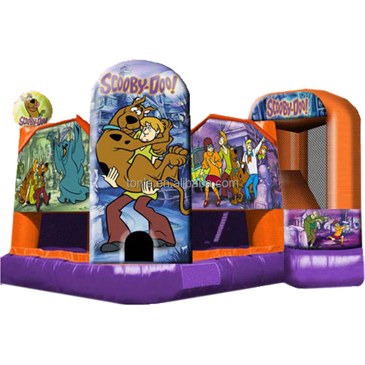 china 5 in1 Scooby Doo inflatable bouncer jumper/ jumping bouncy castle/ bounce house moonwalk trampoline slide combo for party