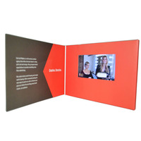 Sample Available Laser Cut Acrylic Wedding Invitation Card business Video Player Greeting Card