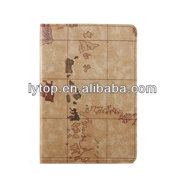 Classic Map Case for Ipad Mini Leather