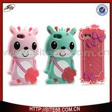 alibaba china supplier mobile phone accessory 3d cartoon silicone rubber case for iphone 6