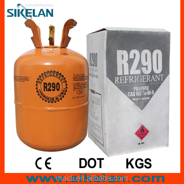 Refrigerant R290 Propane Gas with 99.9% Purity