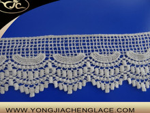 YJC6743 OEM service 100% cotton hand made crochet flower french lace trimming