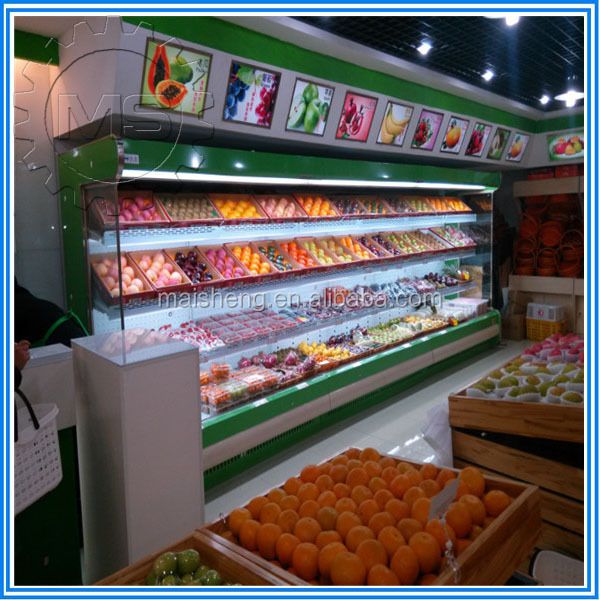 meat fruit vegetable using display fridge / commercial refrigerator / cooler display