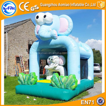Commercial inflatable bouncer PVC good quality cute elephent kids inflatable jumping bouncer
