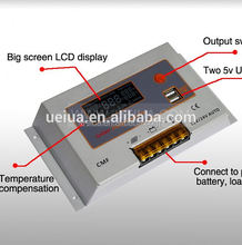 30A New CMF-10A/20A PWM Battery Charging Solar Regulator 12V 24V with Timer Control and Backlight