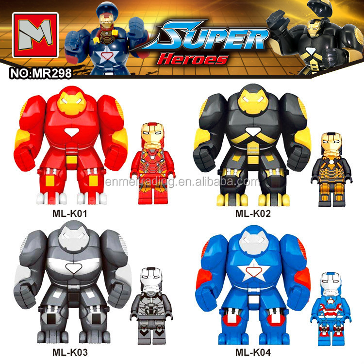 lepin Iron Building Blocks educational Toys Man for kids Super Heroes Big Fogure toys 2017