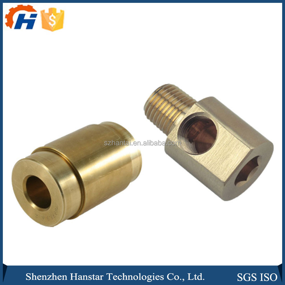 Small order accept Hanstar CNC machined brass small part fabrication