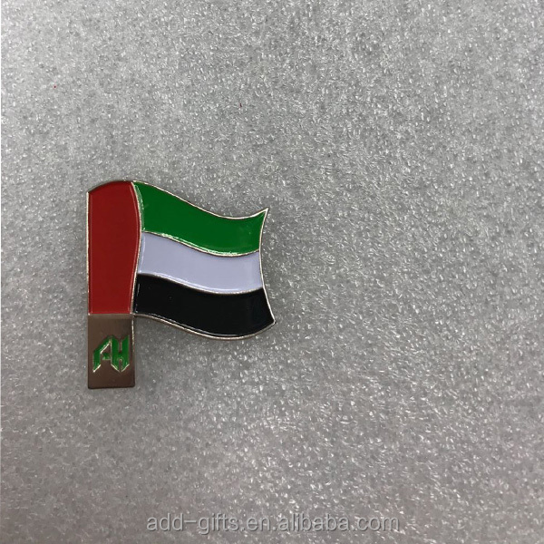 soft enamel The United Arab Emirates flag metal lapel pin badge