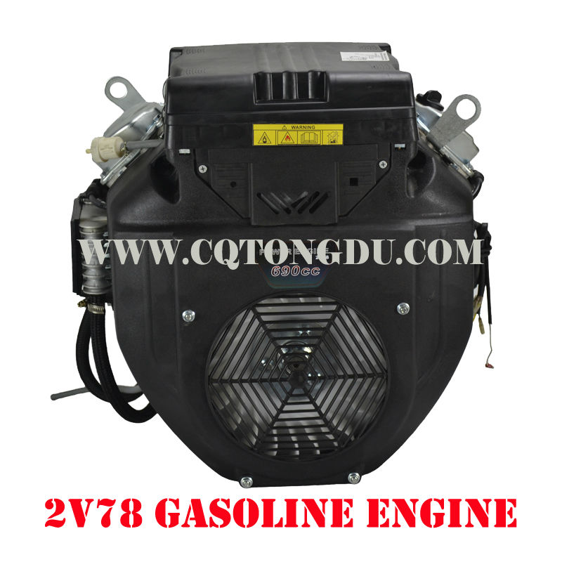 Chongqing factory price 4 stroke 690cc twin cylinder 22hp gasoline engine