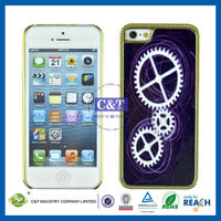 C&T Wheels pattern IMD design case for iphone5 sublimation case