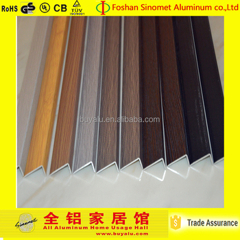 Sinomet hot sale aluminum extrusion right angle tile tirm