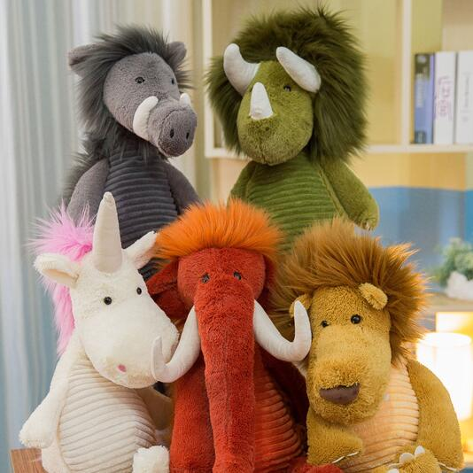 Plush Stuffed Customized unicorn / mammoth / Lion toy stuffed plush <strong>animals</strong>