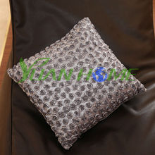 Stock Pretty Small Roses Flowers Shaped Satin Cushions (YHC-3005B)