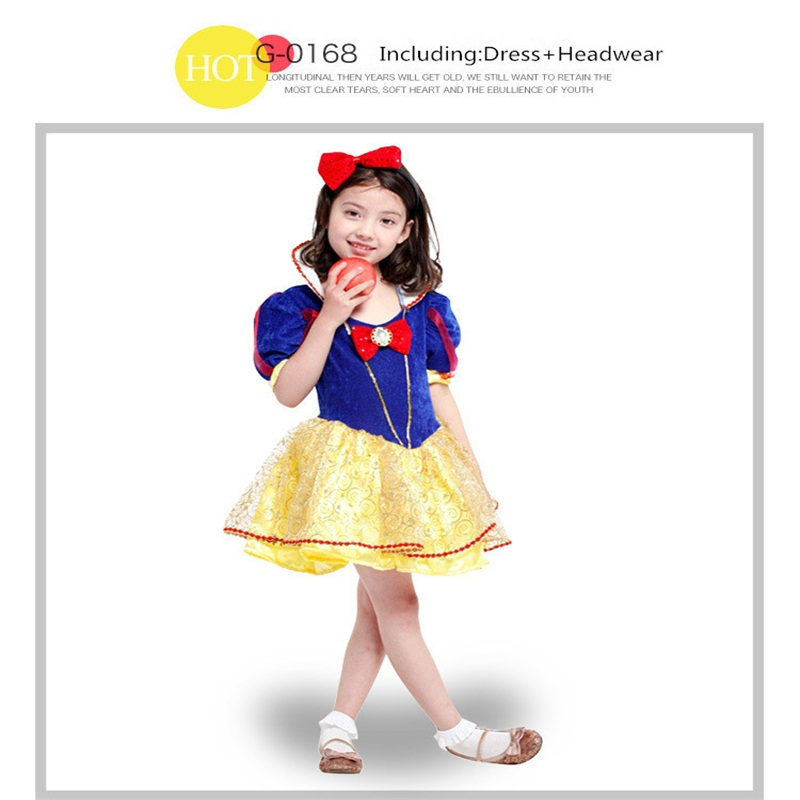 Hot sale fairy design chirstmas party snow white costume