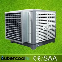 Window mounted industrial swamp air cooler with duct and diffuser (FAB18-IQ)
