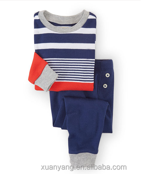 wholesale funny and old fashion korea cotton boys sleepwear or OEM kids/children pajamas