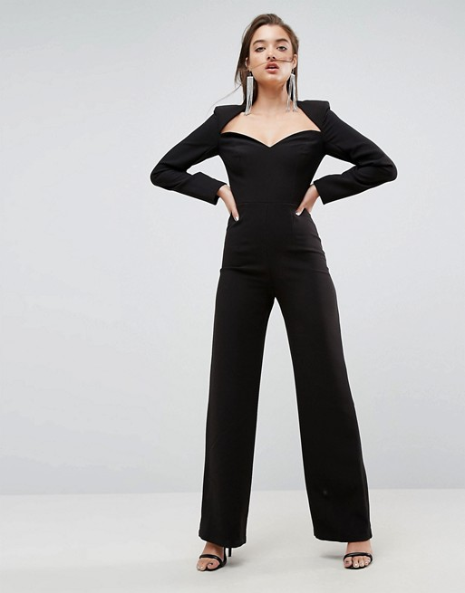 fashion new design Jumpsuit with Sweetheart Neckline and Wide Leg
