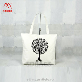 promotional calico design durable reusable cotton shopping bag