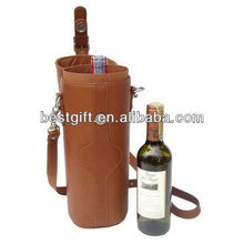 High quality cow leather wine box wine carrier
