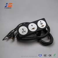 JS-FT103 multimedia table power outlet with cables