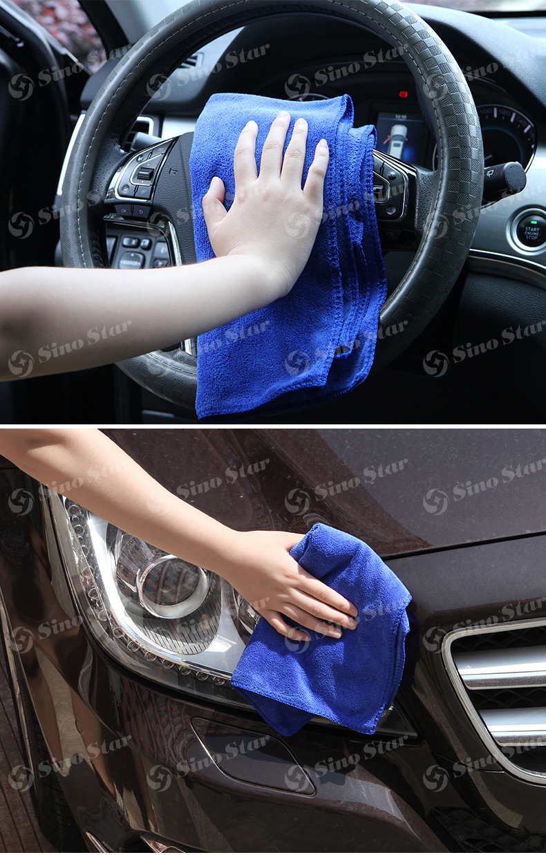 SS-WT1 40*60cm 260gm2 Custom making car chamois towels Microfiber Car Cleaning Easy Wash and dry towels