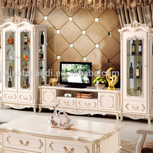 Luxury Classic French style wood carving bedroom furniture