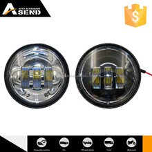 4.5'' round led fog light 6000k crees chip 30w 4.5in. led fog lamp black bazel led fog light kit for harley