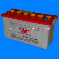 lead acid dry charged car battery N100 12V100AH