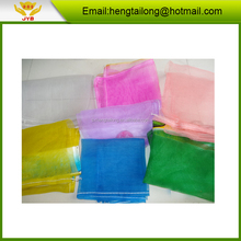 yellow and other colors pe mesh bags for fruit and vegetables