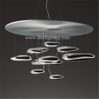 creative modern ceiling lights silver LED lamps for home decoration