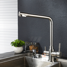 Top Sale Brushed Nickel Ceramic Cartridge Sink Drinking Water Faucet