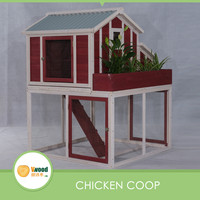 Outdoor Water-proof Wooden Chicken Coop & large Run with Planter