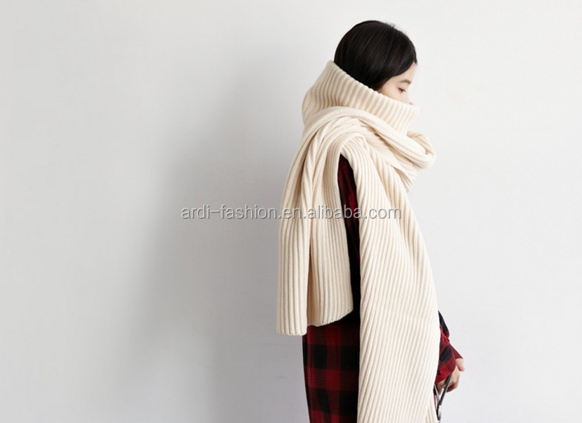 2016 winter thick special design women knit neck scarf